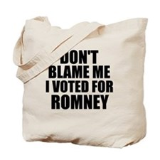 I voted Romney Tote Bag