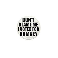 I voted Romney Mini Button