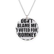 I voted Romney Necklace Circle Charm