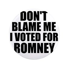 "I voted Romney 3.5"" Button"