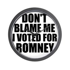 I voted Romney Wall Clock