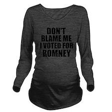 I voted Romney Long Sleeve Maternity T-Shirt