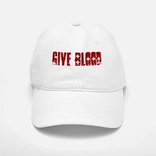 Give Blood, Go Geocaching Baseball Baseball Cap