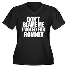 Dont Blame M Women's Plus Size Dark V-Neck T-Shirt