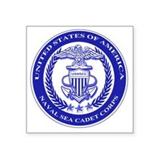 "NAVAL SEA CADET CORPS SEAL Square Sticker 3"" x 3"""