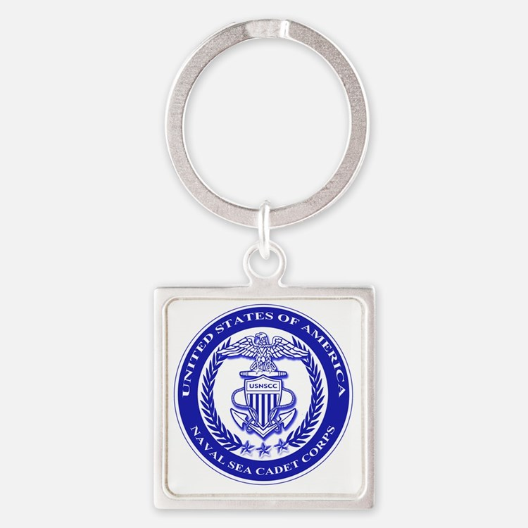 NAVAL SEA CADET CORPS SEAL Square Keychain