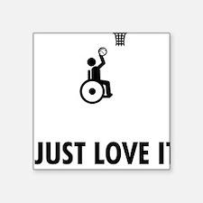 "Wheelchair-Basketball-AAT1 Square Sticker 3"" x 3"""