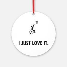 Wheelchair-Basketball-AAT1 Round Ornament