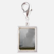 Old Faithful Yellowstone Nat Silver Portrait Charm