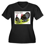 Turkey Day Women's Plus Size V-Neck Dark T-Shirt