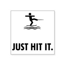 "Waterskiing-ABQ1 Square Sticker 3"" x 3"""