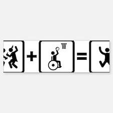 Wheelchair-Basketball-AAN1 Bumper Bumper Sticker