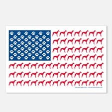 Greyhound Rescue Flag Tee Postcards (Package of 8)