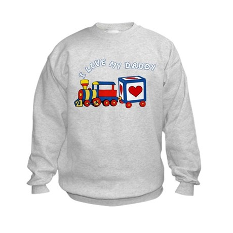 Love Daddy Train Kids Sweatshirt