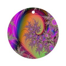Colorful swirl mousepad Round Ornament