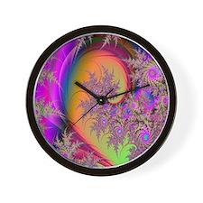 Colorful swirl mousepad Wall Clock