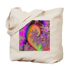Colorful swirl mousepad Tote Bag