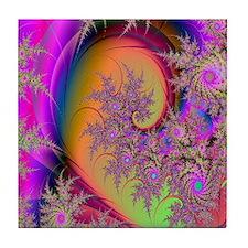 Colorful swirl mousepad Tile Coaster