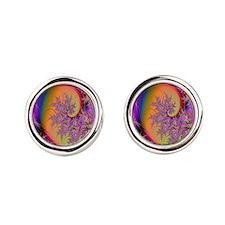 Colorful swirl mousepad Cufflinks
