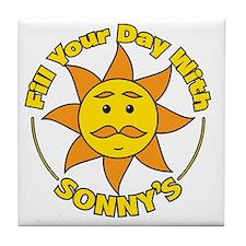 Sonnys Round Tile Coaster