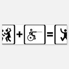 Wheelchair-Fencing-AAN1 Bumper Bumper Sticker