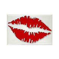 Lips Overload Rectangle Magnet