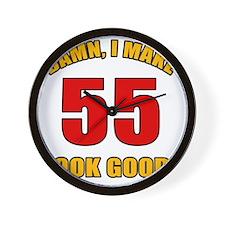 55 Looks Good! Wall Clock