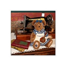 """Blueberry (Bluebeary) Bear  Square Sticker 3"""" x 3"""""""