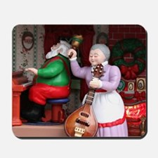 Santa on Piana and Mrs. Claus with Mando Mousepad