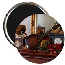 Mandolin on Mantle at Christmas Magnet