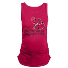 Audiologist Voice Maternity Tank Top