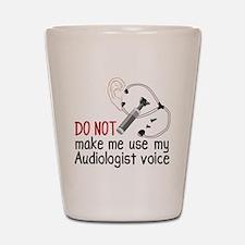 Audiologist Voice Shot Glass