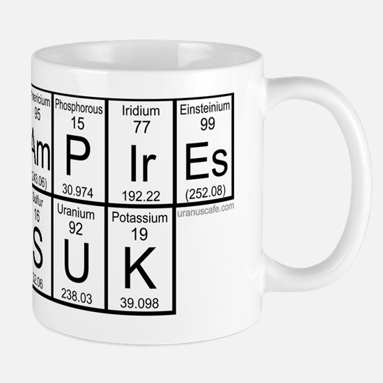 Vampires Suk Periodic Table Mug