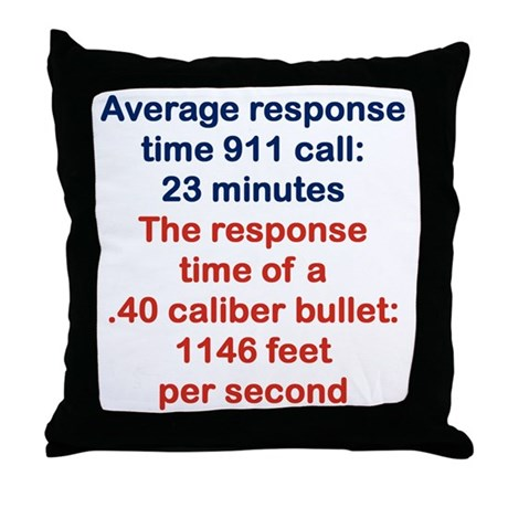 Average Throw Pillow Sizes : AVERAGE RESPONSE TIME 911 CALL... Throw Pillow by Admin_CP14983857