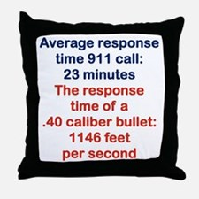 AVERAGE RESPONSE TIME 911 CALL... Throw Pillow