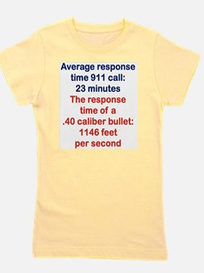 AVERAGE RESPONSE TIME 911 CALL... Girl's Tee