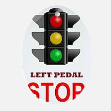 Traffic Light Stop Oval Ornament