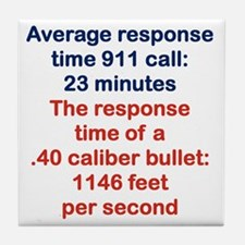 AVERAGE RESPONSE TIME 911 CALL... Tile Coaster