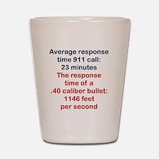 AVERAGE RESPONSE TIME 911 CALL... Shot Glass