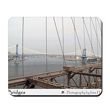 Manhattan Bridge from the Brooklyn Bridg Mousepad