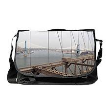 Manhattan Bridge from the Brooklyn B Messenger Bag