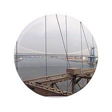 """Manhattan Bridge from the Brooklyn Bri 3.5"""" Button"""