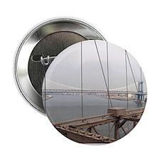 "Manhattan Bridge from the Brooklyn Br 2.25"" Button"