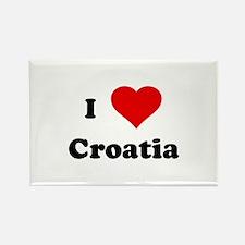 I Love Croatia Rectangle Magnet (100 pack)