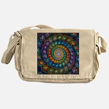 Fractal Spiral Beads Shirt Messenger Bag