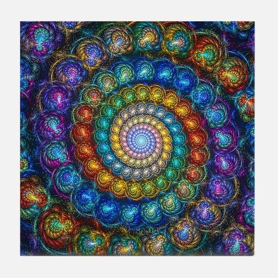Fractal Spiral Beads Shirt Tile Coaster