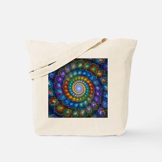 Fractal Spiral Beads Shirt Tote Bag