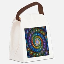 Fractal Spiral Beads Shirt Canvas Lunch Bag