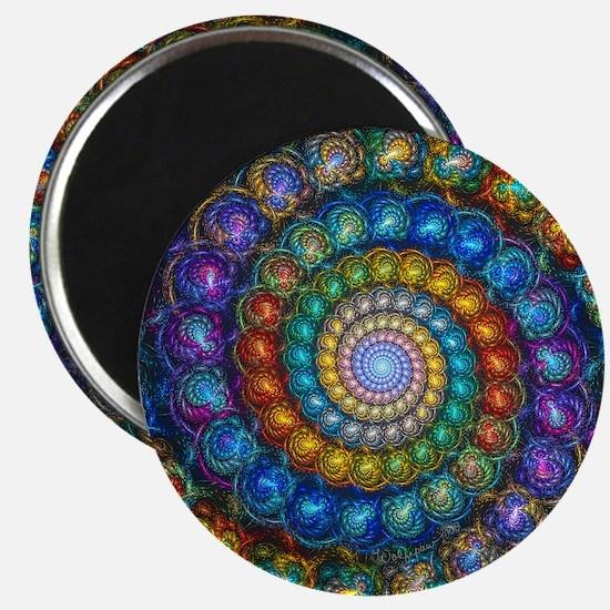 Fractal Spiral Beads Shirt Magnet