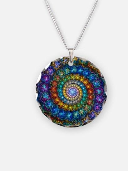 Fractal Spiral Beads Shirt Necklace